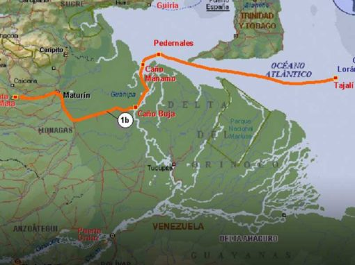 Análisis preliminar de rutas para transporte de gas por tubería.  Proyecto Plataforma Deltana