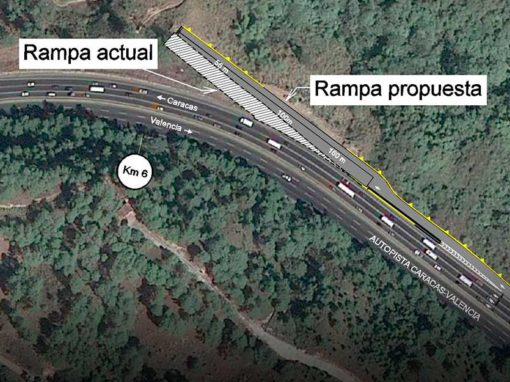 Ingeniería de detalle de rampas de frenado de la Autopista Regional del Centro